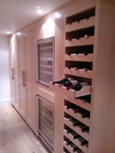 Bespoke Fitted Wine Rack in Surrey