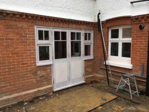 New hardwood doors from kitchen to garden 3