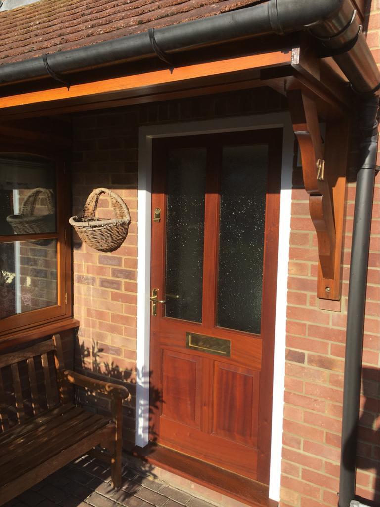 New Hardwood Front Door and Frame in Broadbridge Heath